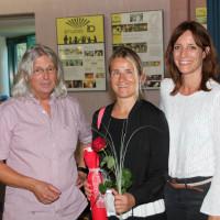 SPD Bezirkstagskandidat Hans-Dieter Brückner, zusammen mit Verena Bentele und Kerstin Gardill, SPD Landtagskandidatin