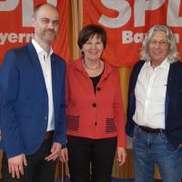Auf dem Bild: Matthias Dornhuber, Heidi Sponsel, Hans-Dieter Brückner