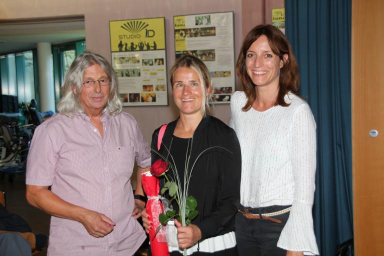 Hans-Dieter Brückner, zusammen mit Verena Bentele und Kerstin Gardill