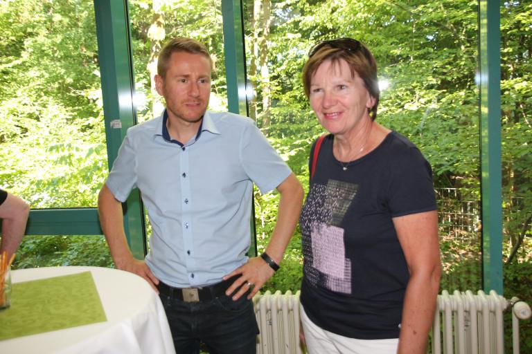 SPD Fraktionsvorsitzender Alexander von Ciracy-Wantrup und Zweite Bürgermeisterin Heidi Sponsel
