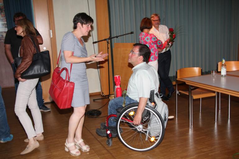 SPD UB Vorsitzende Martina Baumann mit SPD Bezirkstagskandidat Jens Bürkle